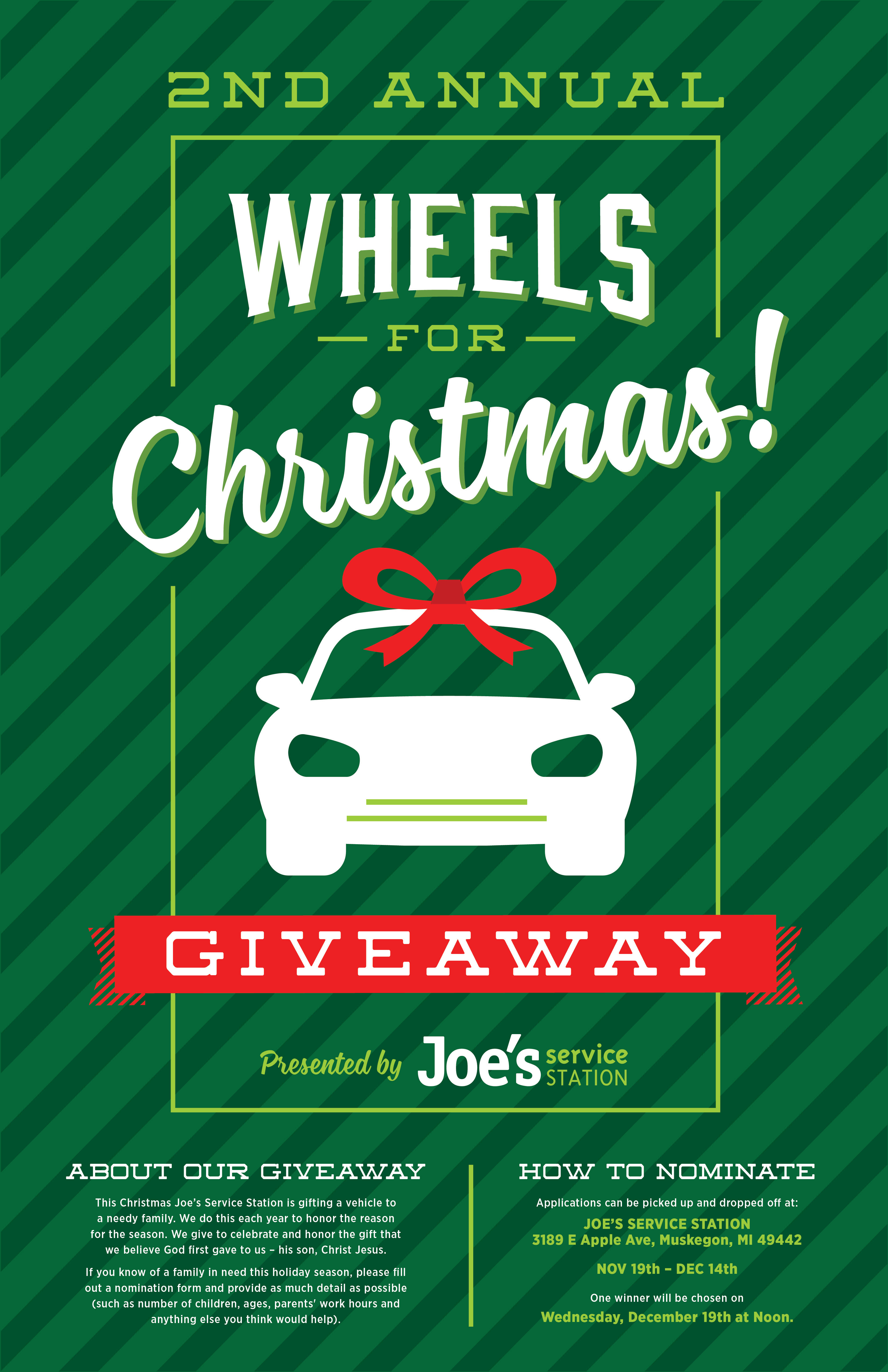 Christmas Giveaway Flyer.2nd Annual Wheels For Christmas Giveaway 2018 Joe S